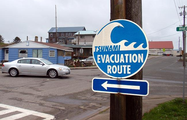All of La Push's lower village is in the tsunami inundation zone.