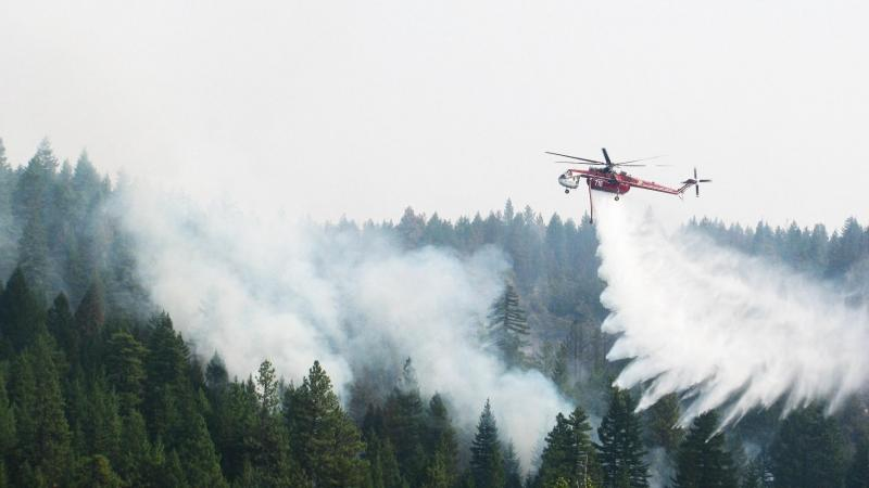 More than a thousand people are fighting the Monastery Fire, burning 12 miles northeast of Goldendale, Wash.