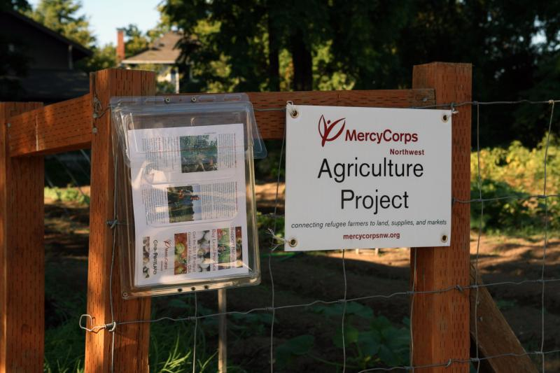 MercyCorps Northwest's farm plot in southeast Portland as a vacant lot a few years ago.