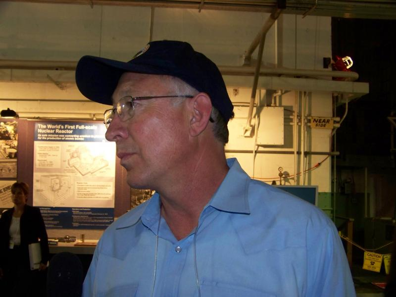 Ken Salazar visited Hanford's B Reactor this past weekend. He supports efforts to make the site a National Park that would be open to the public.