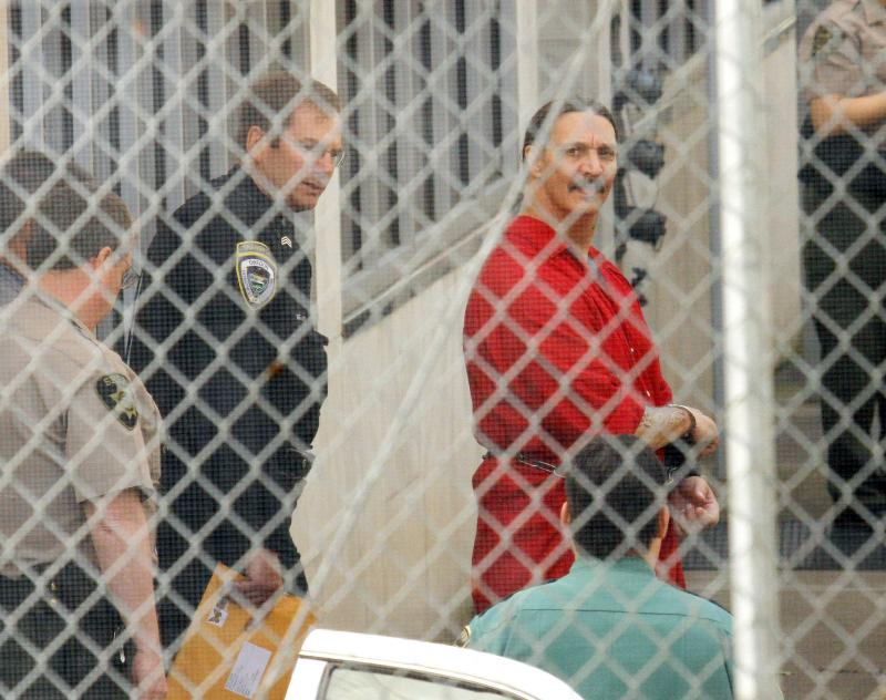 Convicted killer Gary Haugen leaves Marion County courthouse after a hearing in Salem, Ore., in May.