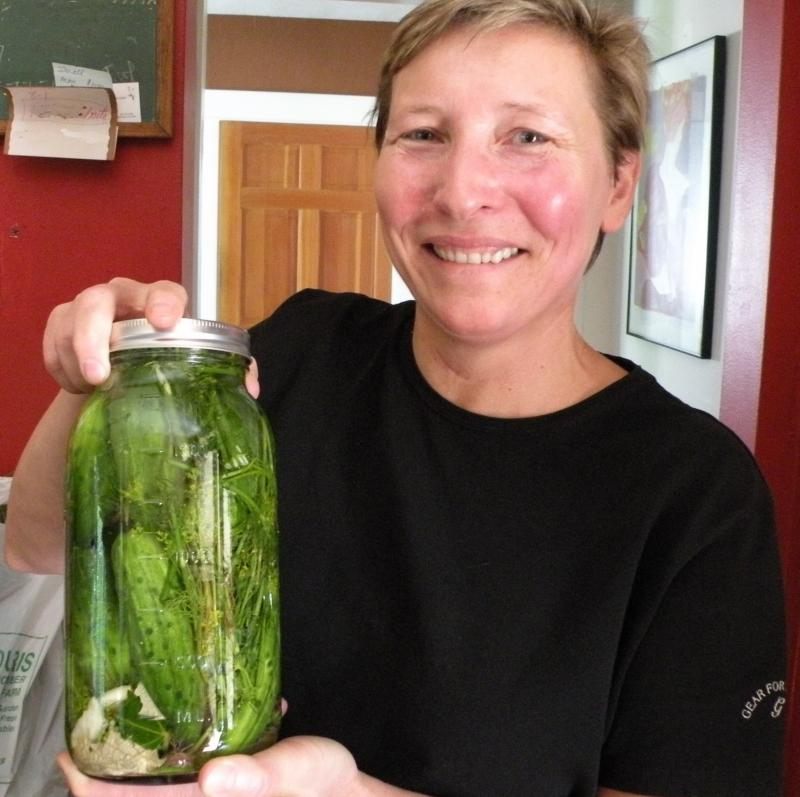 Proud pickle packer Margaret.