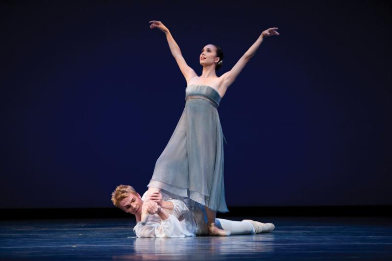 """Pacific Northwest Ballet dancers Noelani Pantastico and Lucien Postlewaite in """"Romeo and Juliet"""" by Jean-Christophe Maillot. Mounting the ballet in Seattle was fraught with injuries and all kinds of second-guessing by the PNB dancers."""