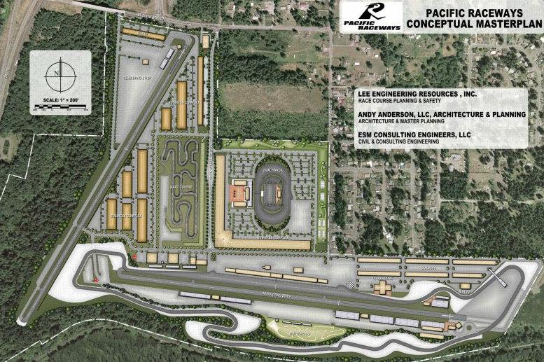 View of the plan to refurbish Pacific Raceways near Kent.