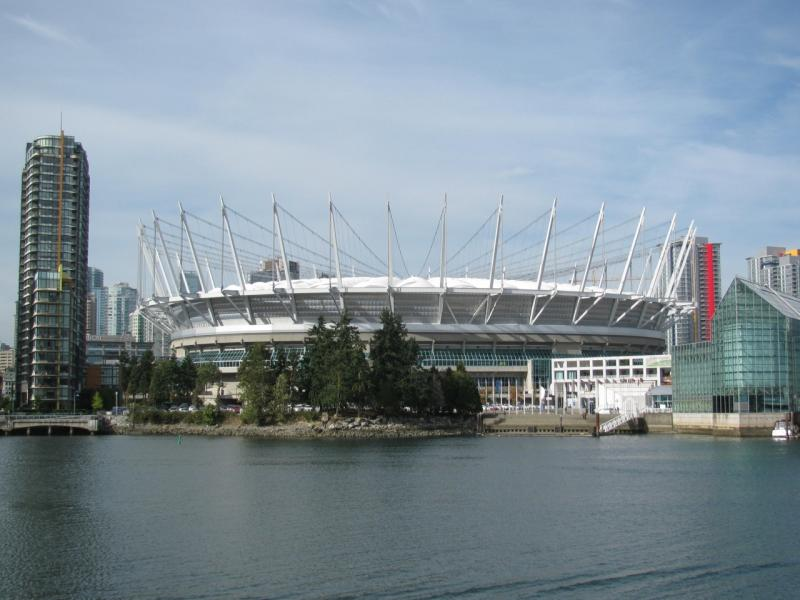 The newly renovated BC Place, the former Olympic stadium in Vancouver B.C. had it's 'marshmallow' roof replaced with a retractable roof.