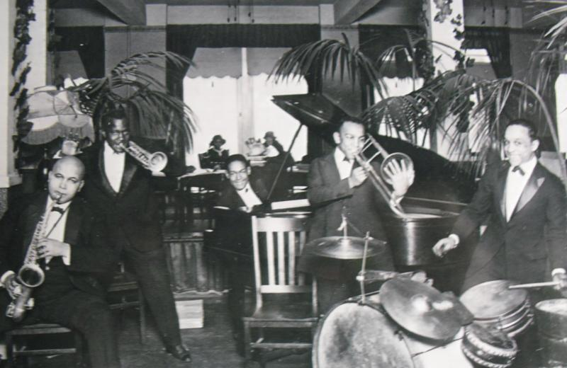 The Odean Jazz Orchestra playing at Seattle's Nanking Cafe in the 1920s.