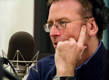 NPR's Steve Inskeep in the KPLU studios.