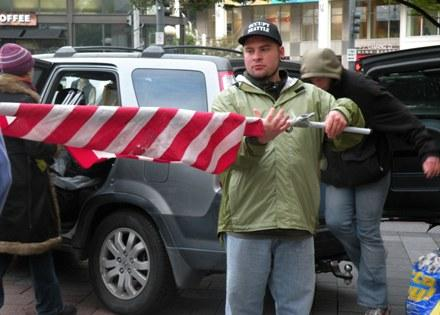 Occupy Seattle organizers pack up some supplies in anticipation of the city removing a large tent. However, protesters say they don't plan to leave Westlake Park.