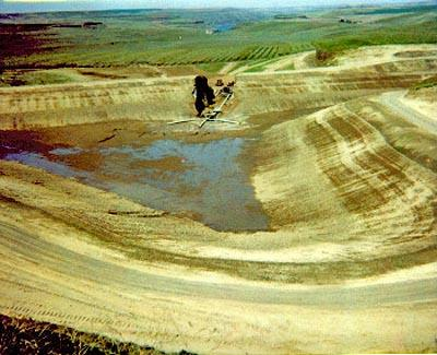 A Dam breach piping failure in Walla Walla County.