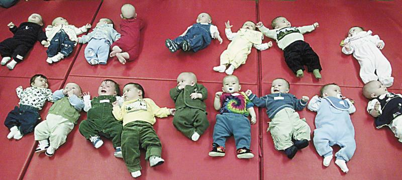 If these babies were in Washington, several of them would be named Jacob and Sophia.