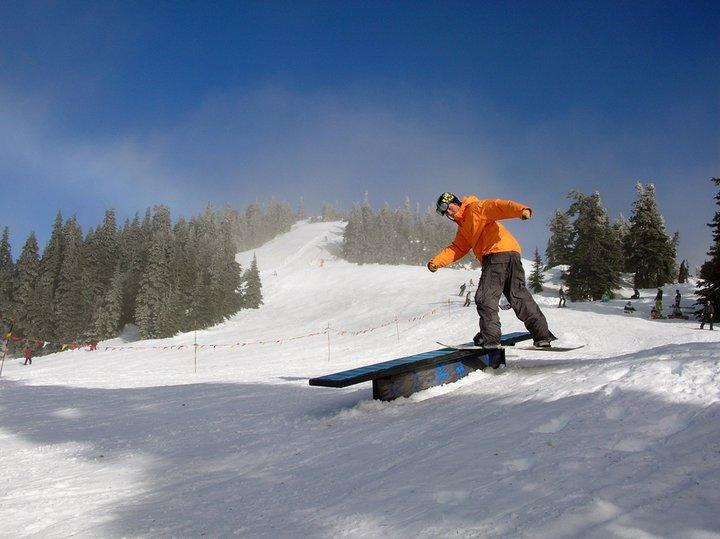Glimpse of some of the action at Hurricane Ridge Ski and Snowboard Area.