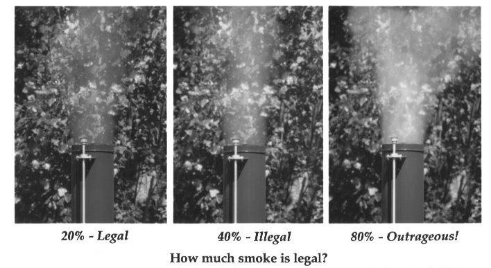 Excessive smoke is always illegal, even if a wood stove is your only source of heat