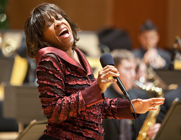 Gail Pettis sings at the KPLU Christmas Jam at PLU on Dec. 8, 2011.