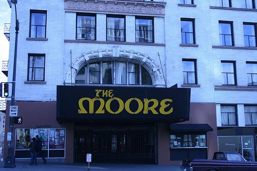 Seattle's Moore Theatre is one of five venues included in the newly designated Downtown Historic Theater District.