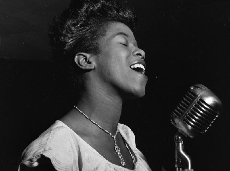 Sarah Vaughan in 1946.