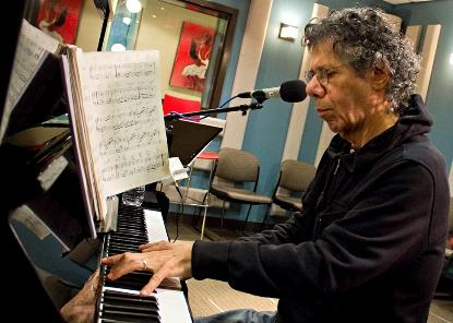Chick Corea playing in the KPLU studio on Friday.