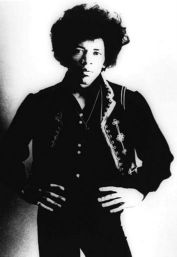 Jimi Hendrix is shown in an undated photo.