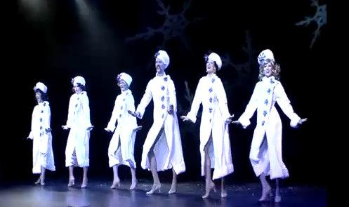 "A screen grab of the ""Nutcracker"" as envisioned by Land of the Sweets burlesque company."