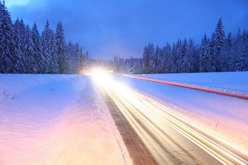 Interstate 90 near Washington's Snoqualmie Pass in 2007. This time of year, travelers should always be ready, WashDOT says.