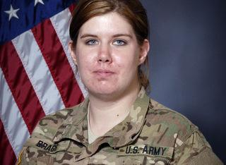 This undated photo provided by the U.S. Army shows 21-year-old Spc. Mikayla A. Bragg of Longview, Wash.