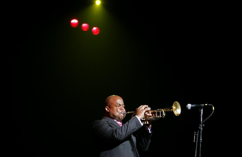 Nicholas Payton performing in 2008 in New York.