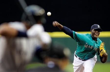 Now-former Mariner pitcher Michael Pineda throws against the Yankees' Alex Rodriguez (another former Mariner) in May of last year. Pineda will now pitch for the Yankees.