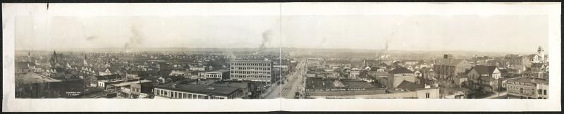The view looking East from the American Bank Building in Everett, circa 1912