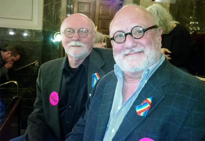 Richard Cannon and Richard Bullock have been together nearly 25 years and watched the gay marriage vote from the Senate gallery.