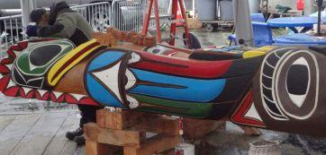 The John T. Williams Memorial totem pole will be the first totem pole to be raised in Seattle in nearly 100 years. 1000 people are expected to carry it in a procession on Sunday.