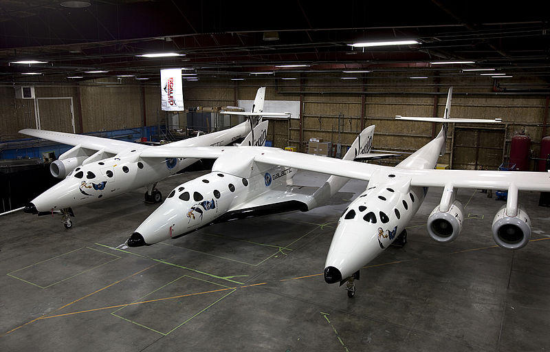 Virgin Galactic's ship SpaceShipTwo. Founder: Richard Branson.