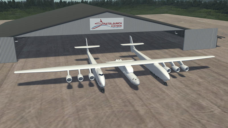 Stratolaunch Systems' ship Stratolaunch. Founder: Paul Allen.