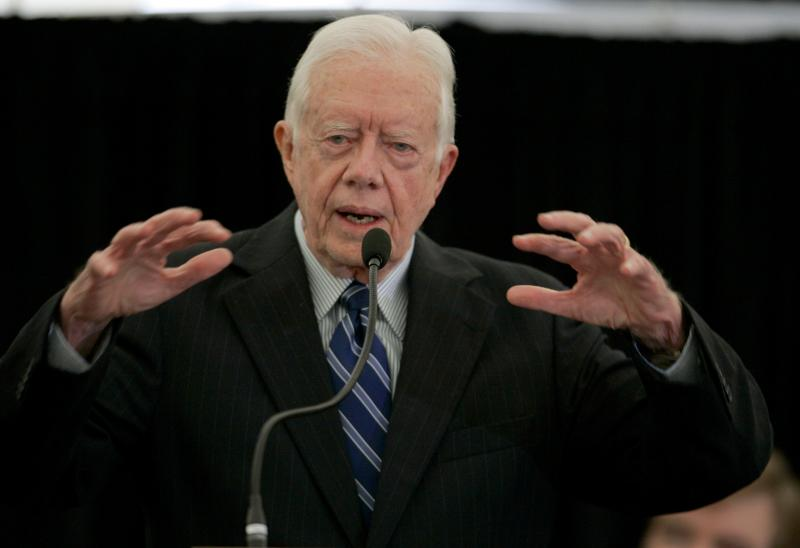 Former President Jimmy Carter at The University of Washington in 2006.