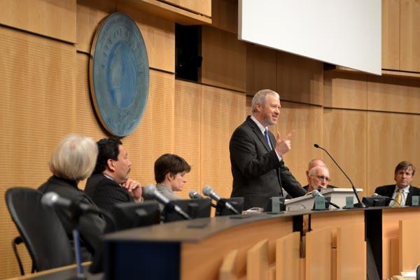 'I know every one of the city council members sitting to my left and right believe as I do: it's time for this state to legalize marijuana,' Seattle Mayor Mike McGinn said in his State of the City address.