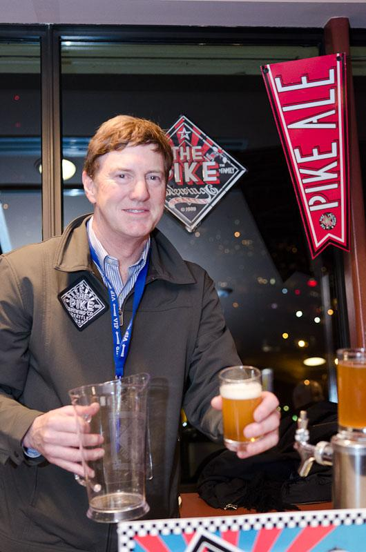 Pike Brewing's Golden Anniversary IPA, served up by Pike Sales Manager, Steve Case.