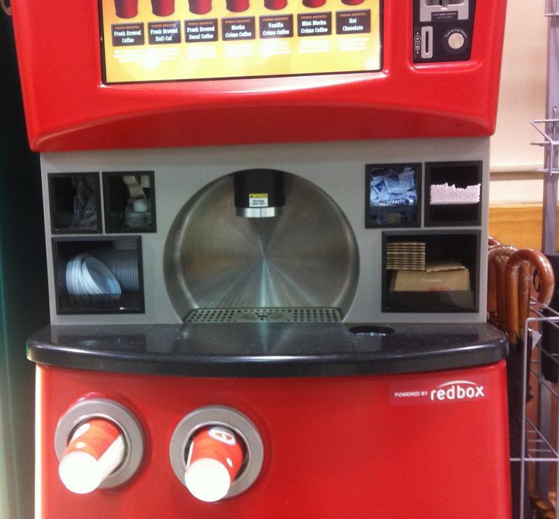 What the new coffee kiosk looks like.