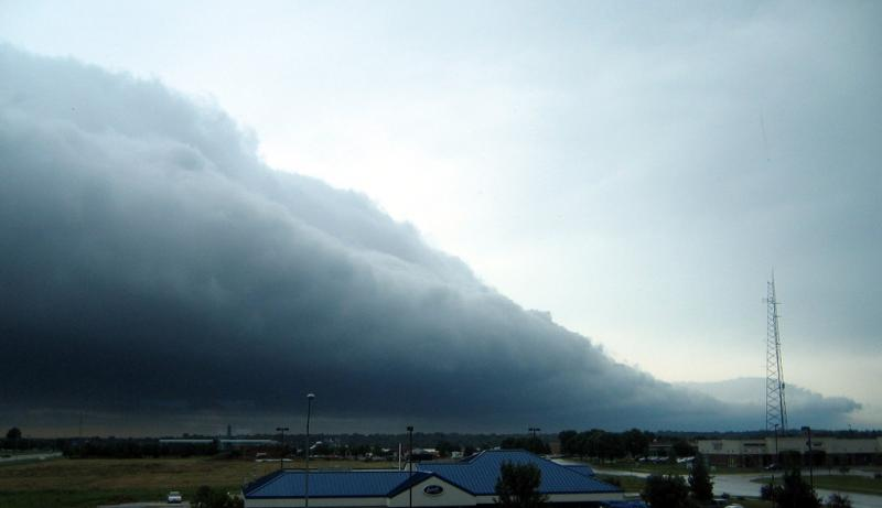 Not for wimps: Now, that's what a real storm front looks like ... on the plains of Nebraska.