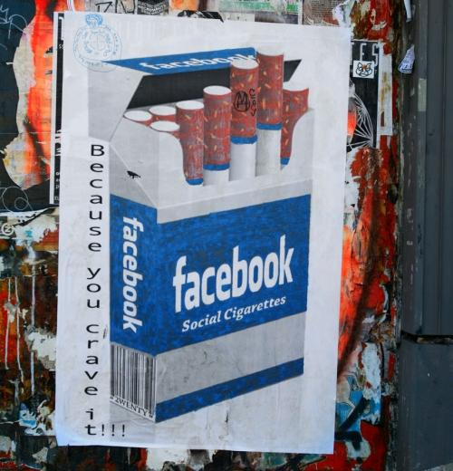 Facebook-inspired street art in San Francisco. 3/12/2011