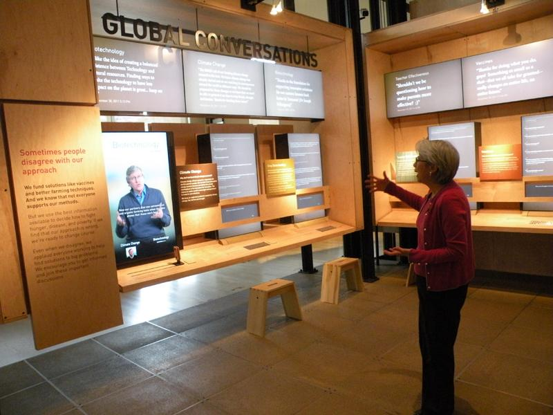 During the tour of the Gates Foundation's new visitor center.
