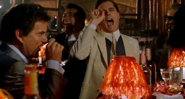 A scene from the Goodfellas, considered to be the second best Gangster movie ever made.