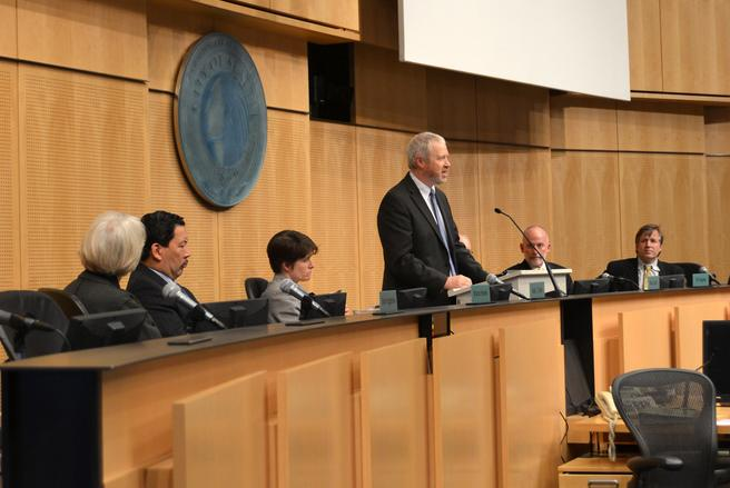 Seattle Mayor Mike McGinn warned in his State of the City speech today that the economic storm isn't over. The city faces another budget shortfall in 2013 and more state and federal cuts are on their way.