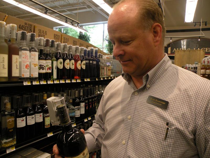 "Brian Bixenman of West Seattle Thriftway says adding liquor has been a ""big learning curve"""