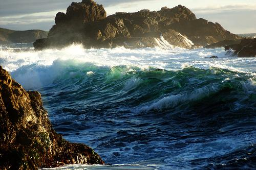 As sea levels rise, waves will crash with greater intensity along the coast.