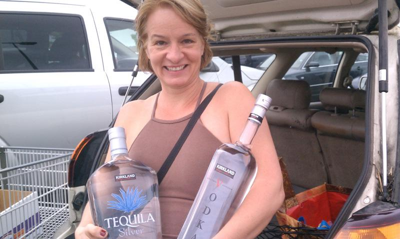 Alyssa Royse stocked up on tequila, vodka, gin, scotch and vermouth on the first day of private liquor sales.
