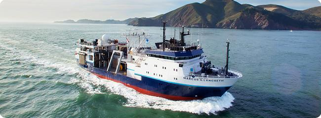 The R/V Langseth uses sonar to study earthquake faults