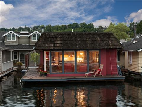 Houseboat for sale in Portage Bay.
