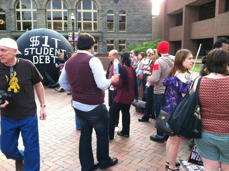 #MicCheckWallStreet protesters gather at Seattle Central Community College.