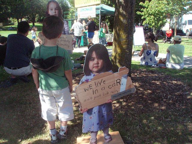 A campaign by Seattle-based Wellspring aimed to raise awareness about homeless children.