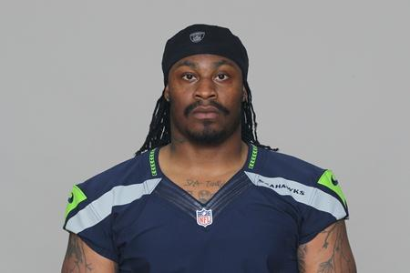 2012 photo of Seahawks running back Marshawn Lynch.