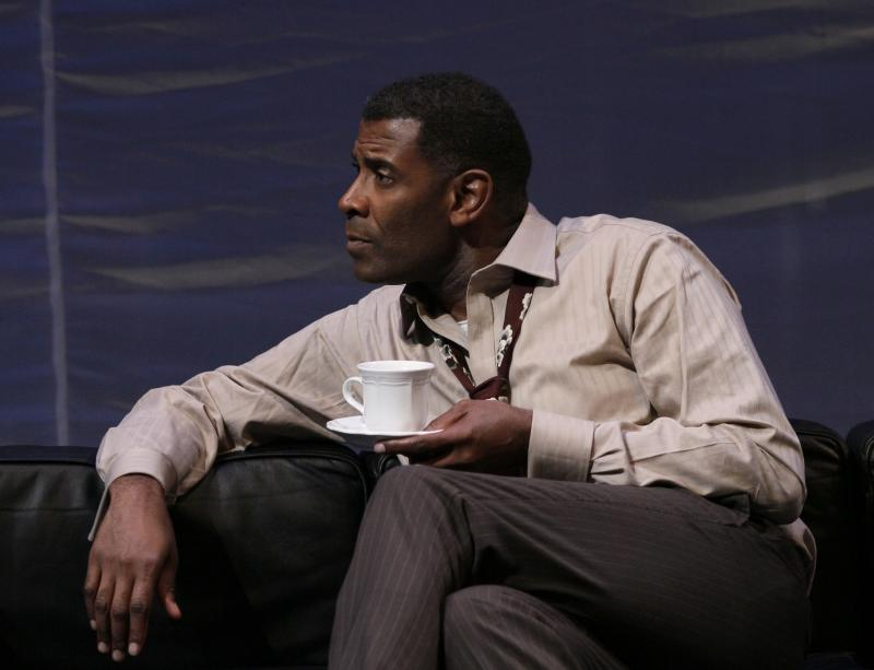 "Timothy McCuen Piggee as Judge Brack in ""Hedda Gabler,"" part of Intiman Theatre's Summer festival"