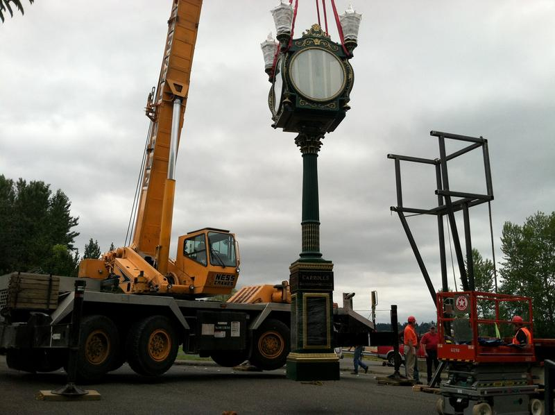 Carroll's clock weighs around four tons and took almost a whole day to move.